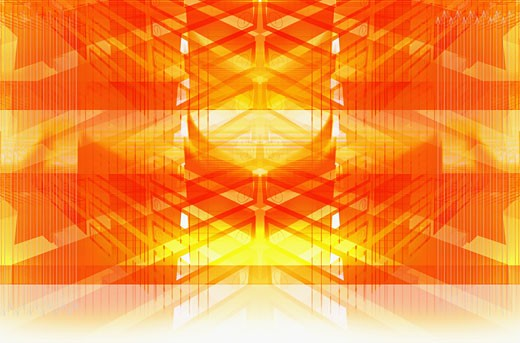 Abstract pattern in orange : Stock Photo