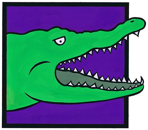 Green Alligator : Stock Photo