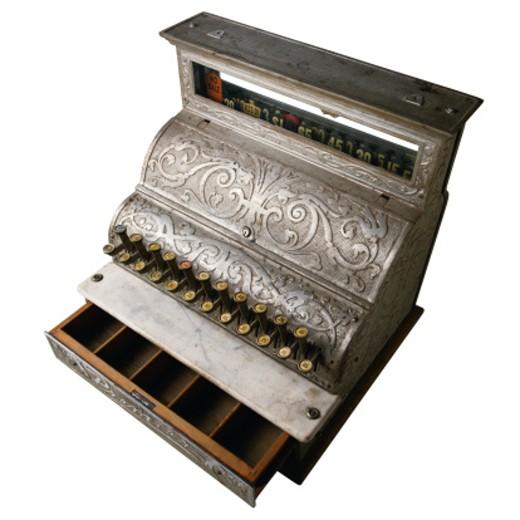Stock Photo: 1598R-153645 Antique Cash Register