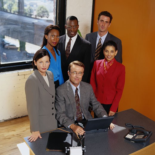 Portrait of a Group of Businesspeople : Stock Photo