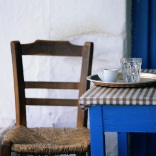 Stock Photo: 1598R-156374 Greek Cafe