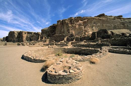 Stock Photo: 1598R-157963 Pueblo Ruins