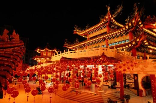 Stock Photo: 1598R-163110 Thean Hou Temple in Kuala Lumpur, Malaysia