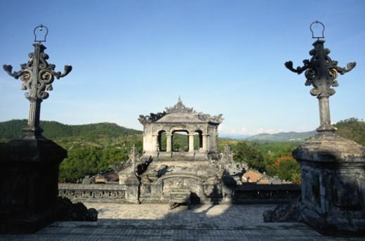 Khai Dinh Tomb : Stock Photo