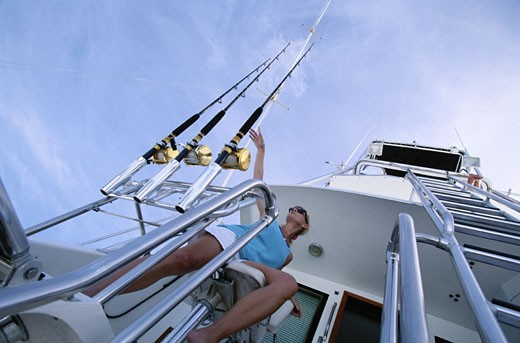 Deep Sea Fishing : Stock Photo
