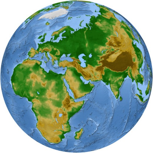 Stock Photo: 1598R-164406 Vegetation Map -- Africa and Eurasia
