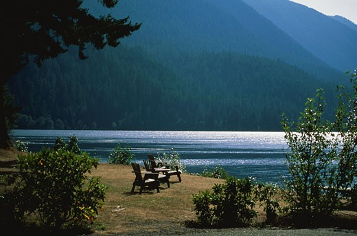 Lakeside Chairs : Stock Photo