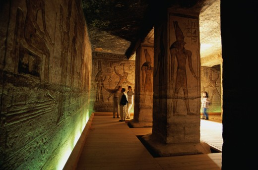 Temple of Nefertare : Stock Photo
