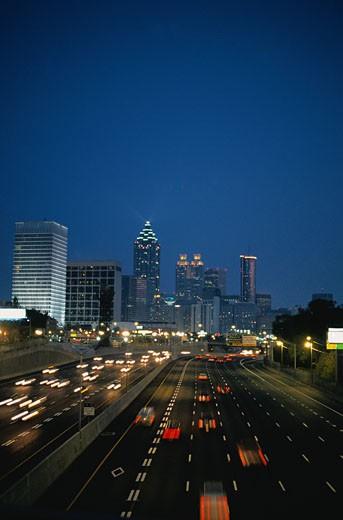 Atlanta at Night : Stock Photo