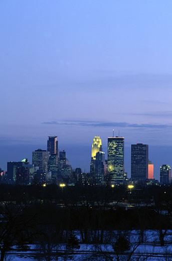 Minneapolis Skyline : Stock Photo