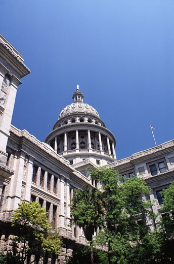 State Capitol, Austin, Texas, USA (Low angle view) : Stock Photo
