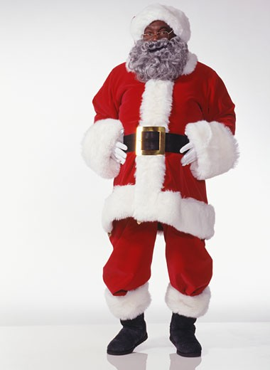 Stock Photo: 1598R-174286 Laughing Santa Claus, portrait
