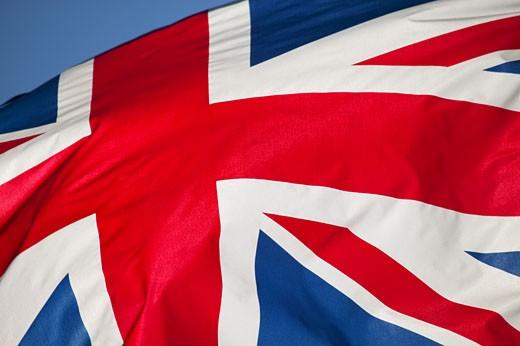 Stock Photo: 1598R-177276 British flag, close-up