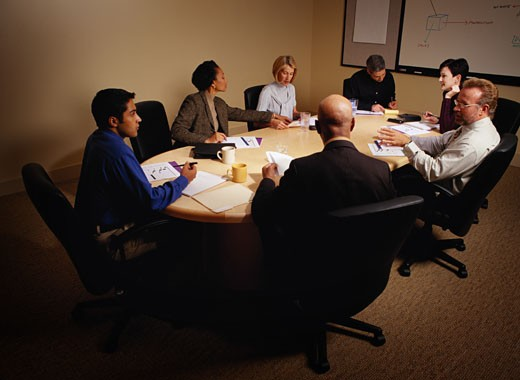 Stock Photo: 1598R-181969 Businesspeople in a Meeting