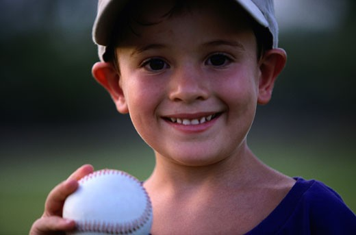 Stock Photo: 1598R-184151 Young Baseball Player