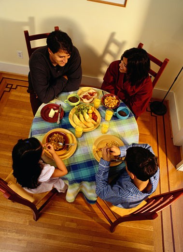Family Eating Breakfast Together : Stock Photo