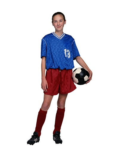 Portrait of a Soccer Player : Stock Photo