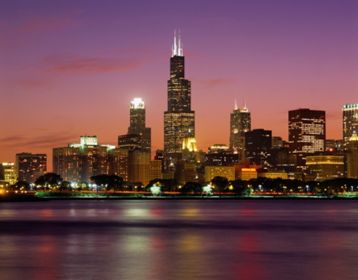 Stock Photo: 1598R-187651 Chicago Skyline