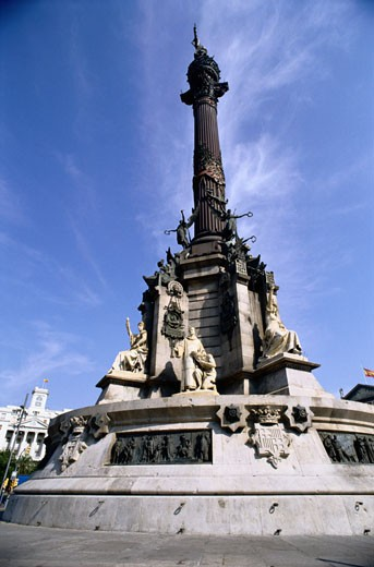 Stock Photo: 1598R-187714 Monument in Barcelona