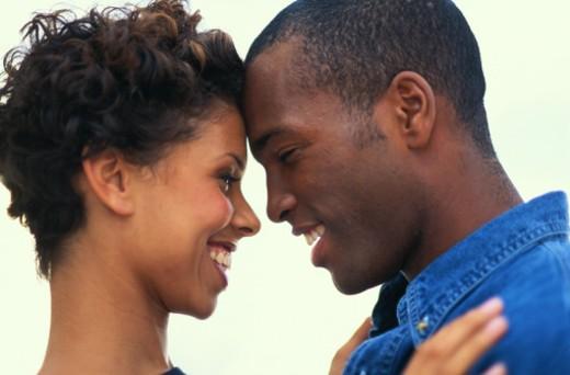 Couple Embracing : Stock Photo
