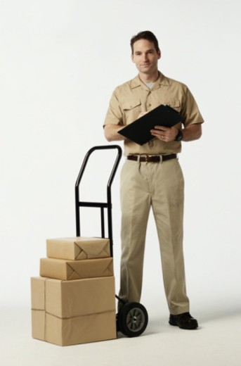 Delivery Person : Stock Photo
