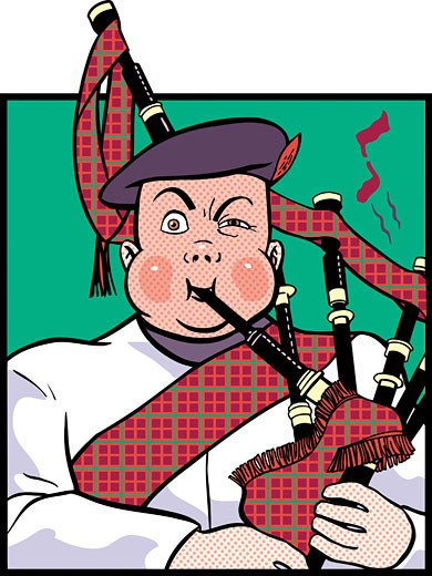 Bagpiper : Stock Photo