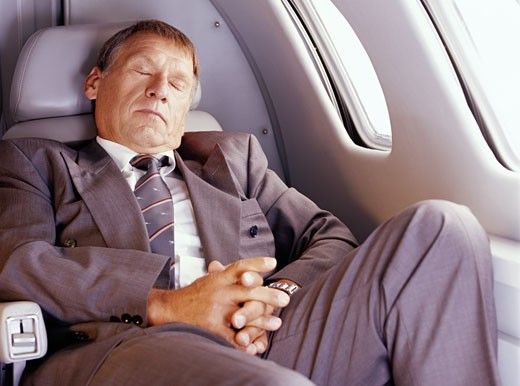 Stock Photo: 1598R-189953 Sleeping Businessman