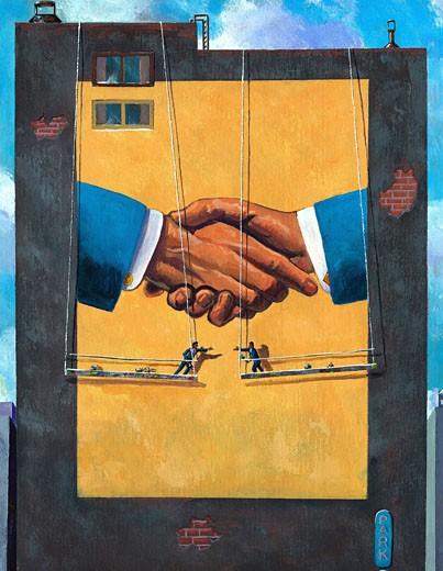 Stock Photo: 1598R-193613 Handshake