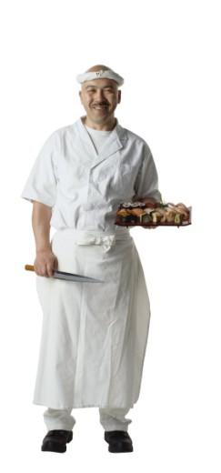 Stock Photo: 1598R-194886 Sushi Chef