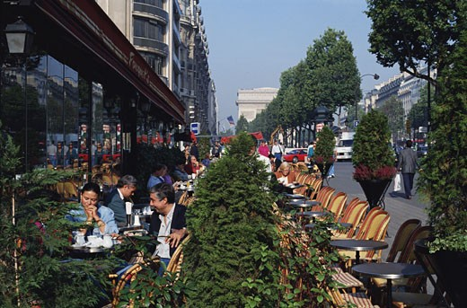 Stock Photo: 1598R-195007 A Paris Cafe