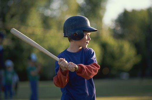 Boy at Bat : Stock Photo