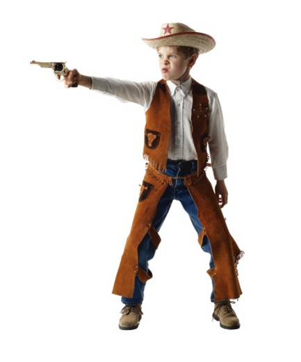 Stock Photo: 1598R-196335 Boy Cowboy