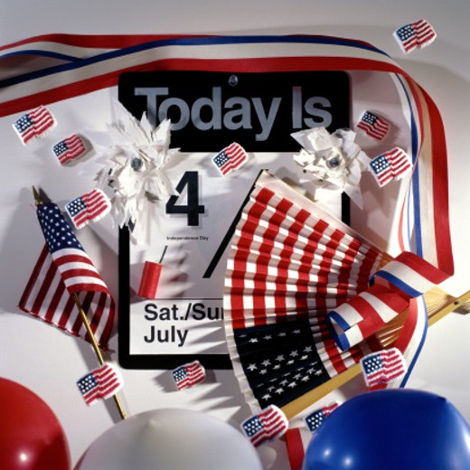 Calendar - Fourth of July : Stock Photo