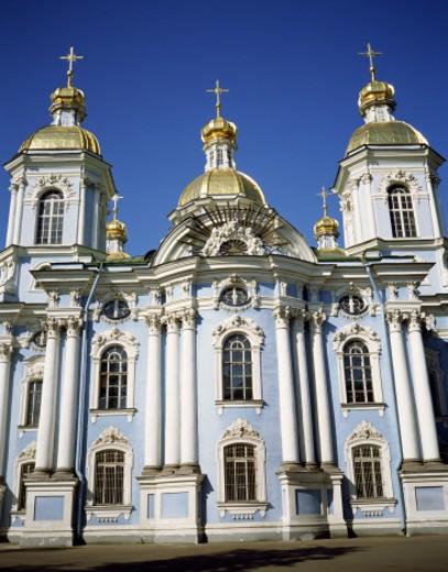 St Nicholas Church in St. Petersburg : Stock Photo
