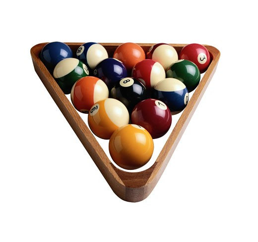 Billiard Balls and Rack : Stock Photo