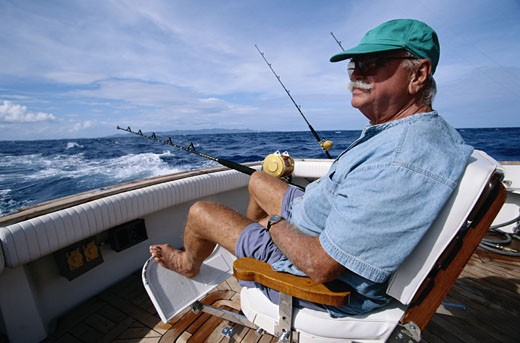 Stock Photo: 1598R-203453 Deep Sea Fishing
