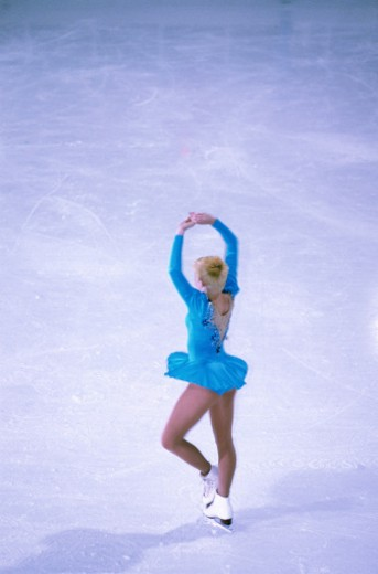 Figure Skater Spinning : Stock Photo