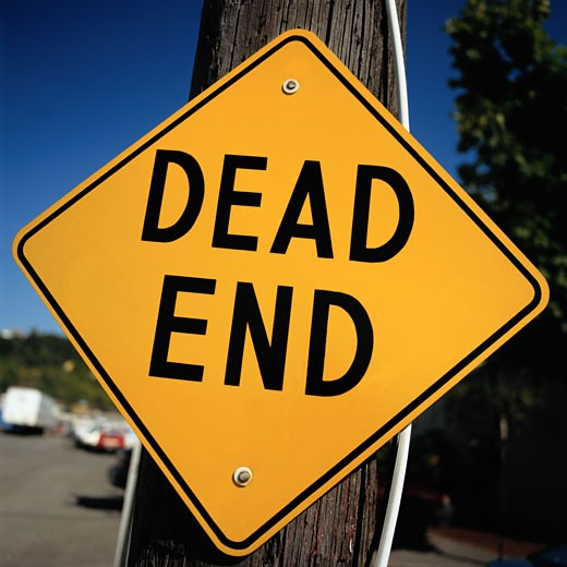 Dead End Road Sign Close-Up : Stock Photo
