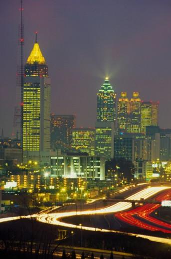 Atlanta Skyline at Night : Stock Photo