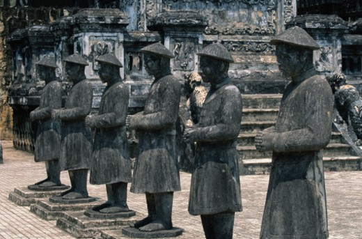 Stock Photo: 1598R-205327 Stone Guards at Tomb of Khai Dihn