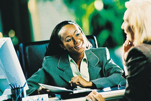Stock Photo: 1598R-212075 Businesswomen Having Discussion
