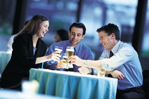Business People Toast with Drinks, After Work : Stock Photo