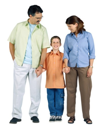 Mother and Father With Son : Stock Photo