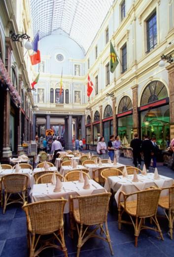 Interiors of a mall, La Gallerie, Bruxelles : Stock Photo