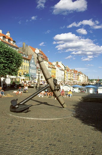 Stock Photo: 1598R-212572 Memorial anchor at the harbor, Copenhagen, Denmark
