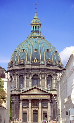 Stock Photo: 1598R-213286 Low angle view of Amalienborg Palace, Copenhagen, Denmark