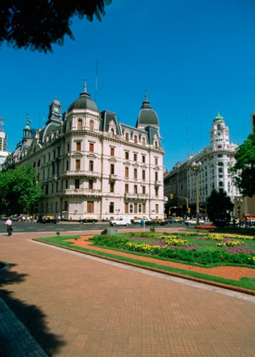 Old buildings on Plaza de Mayo, May Square, Buenos Aires, Argentina : Stock Photo