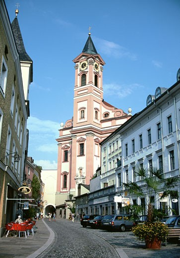 Facade of the Saint Paul's Church, Passau, Germany : Stock Photo