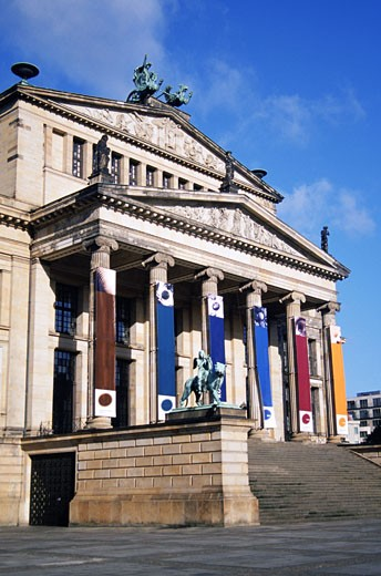 Low angle view of a building, Gendarmenmarkts Square, Berlin, Germany : Stock Photo