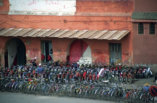 Stock Photo: 1598R-213948 Bicycles for rent, Marrakech, Morocco
